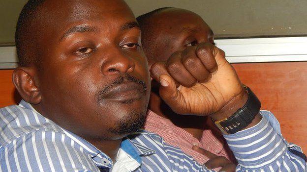 Eric Kamanzi in court in Uganda - 8 December 2014
