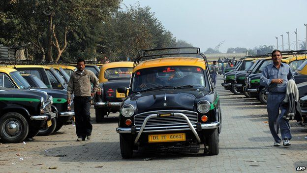 Delhi's Ambassador taxi