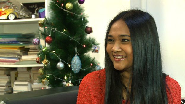 One of Myanmar's most famous popstars Phyu Phyu Kyaw Thein