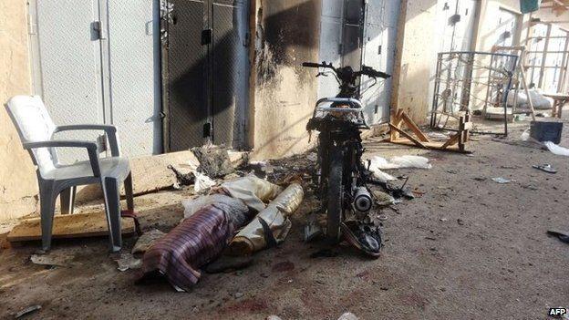 Scene of attack in Kano market - 10 December