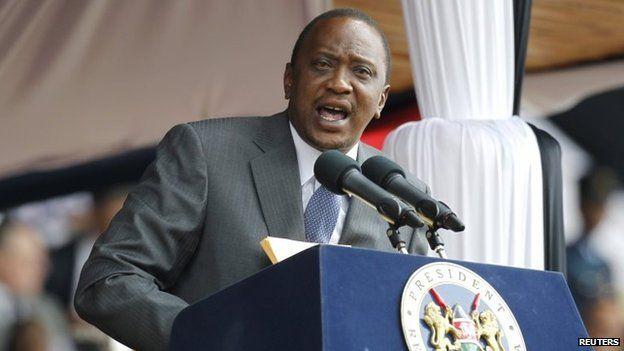 Kenya's President Uhuru Kenyatta addresses the country in Nairobi in October 2014