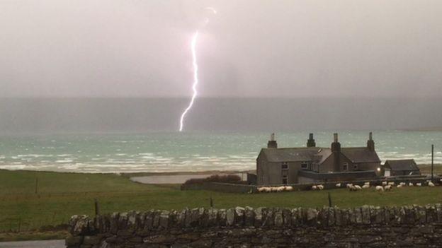 Stronsay lightning