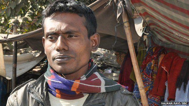 Muslim in Vednagar slum in Agra