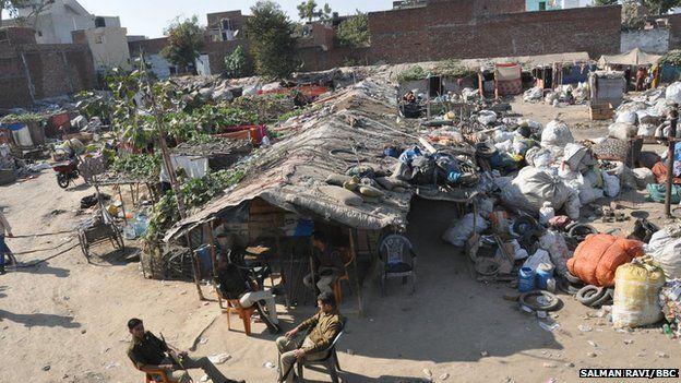 Vednagar slum in Agra