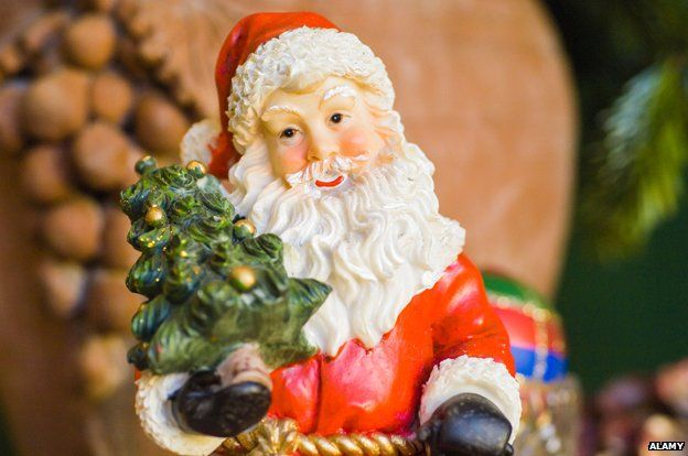 Kitsch santa