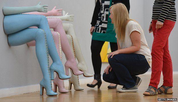 "Allen Jones's installation ""Secretary"""