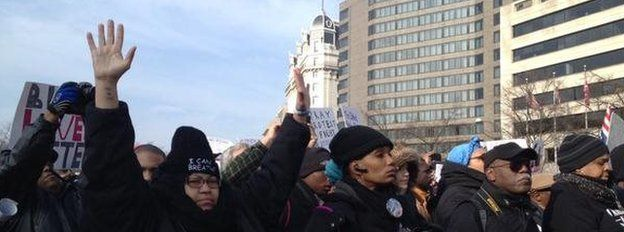 Protesters in Washington DC, 13 December