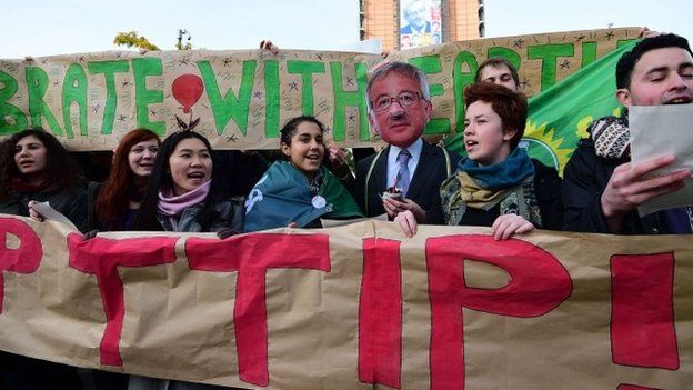 Protest against TTIP in Brussels