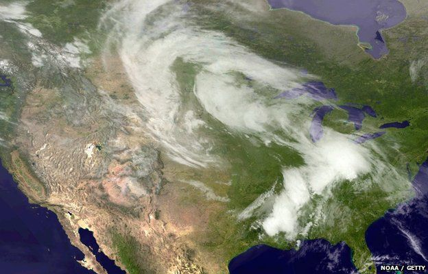 satellite image of storm system