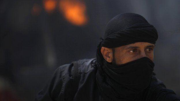 Al-Nusra Front fighter in Syria