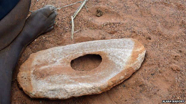 A grinding stone