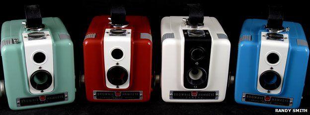 Restored Kodak Brownie Hawkeyes