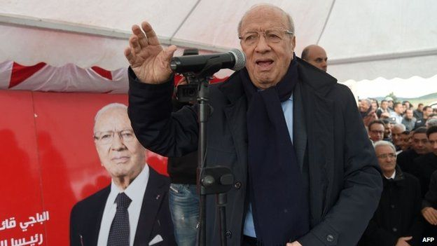 Beji Caid Essebsi, a candidate in the Tunisian presidential election