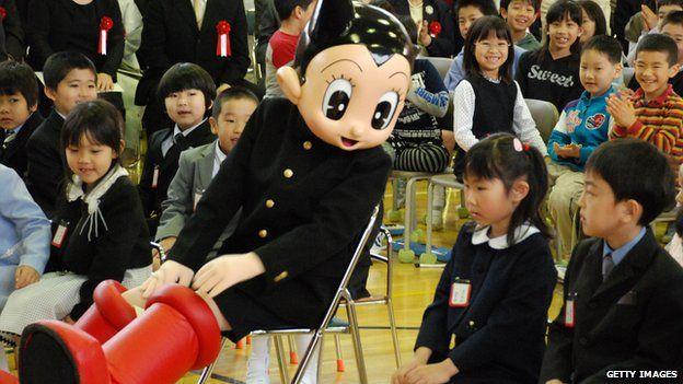 Astro Boy robot in Tokyo school, 2010