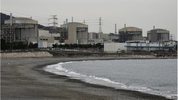 A file picture dated 22 March 2013 shows four reactors of the nuclear power plant in Wolseong, South Korea.