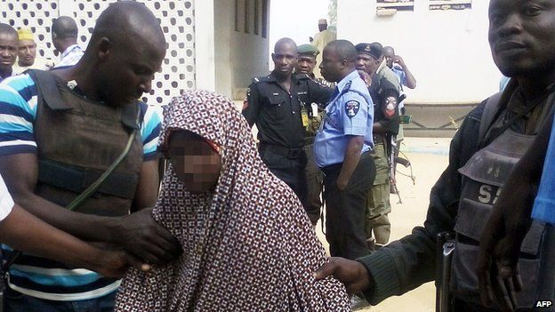Nigerian police present 13-year-old girl to reporters in Kano. 24 Dec 2014