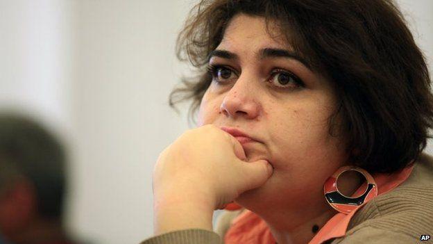 Khadija Ismayilova, a reporter for Radio Free Europe/Radio Liberty in Baku, Azerbaijan