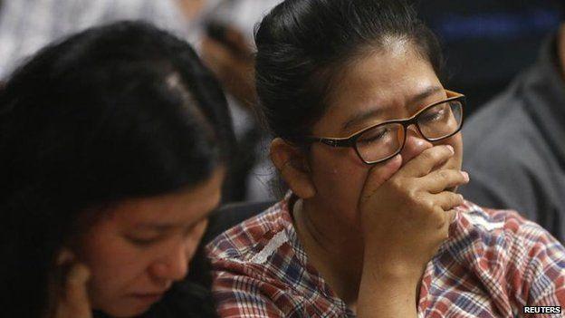Relative of missing passenger, Surabaya, 28 Dec