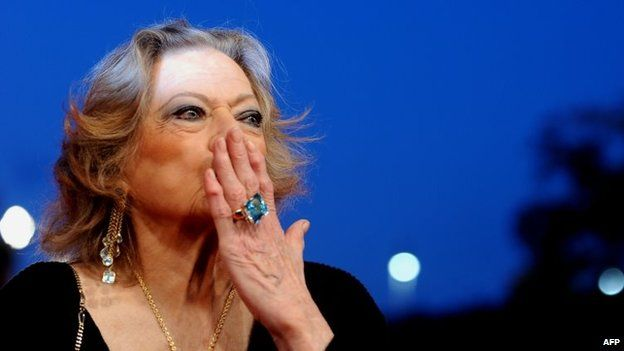 Anita Ekberg at a screening of La Dolce Vita in 2010