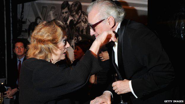 Martin Scorsese and Anita Ekberg