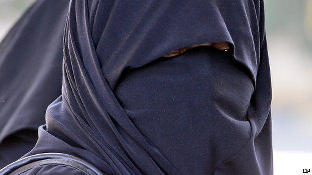 Woman wearing a burka