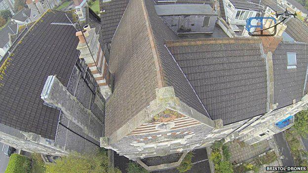 Bristol Drones doing a roof survey