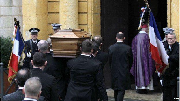 Funeral of Franck Brinsolaro, 15 January 2015