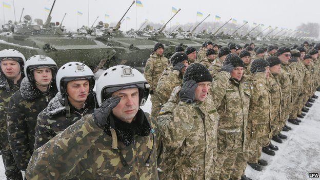 Ukrainian troops in Zhytomyr - file pic