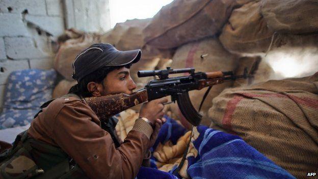 Kurdish fighter in Kobane on 7th November 2014