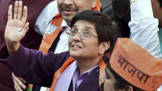 Kiran Bedi in Delhi on 19 Jan 2015
