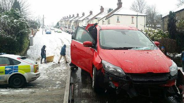Car pulled from crash