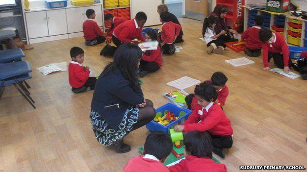 Children in a classroom at Sudbury primary school