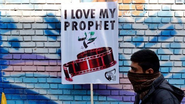 Iranains protest depiction of their Prophet by French magazine Charlie Hebdo