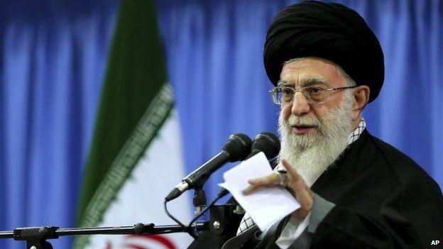 The Iranian supreme leader, Supreme Leader Ayatollah Ali Khamenei speaks in a gathering of senior officials of in Tehran, Iran on 27 November 2014