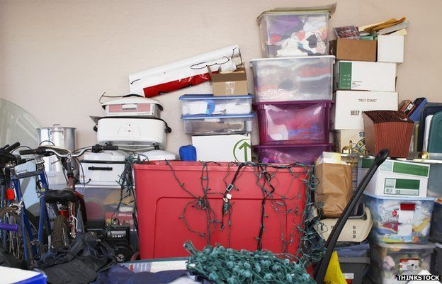 Piles of boxes and clutter