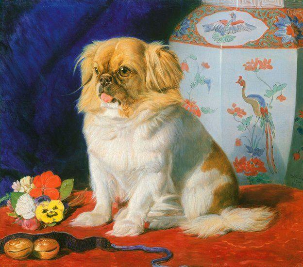 A painting of Looty by Friedrich Wilhelm Keyl