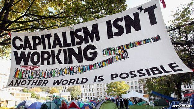 Occupy London protest banner