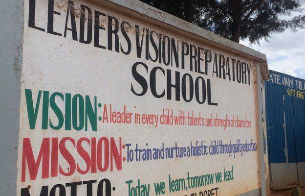 Leaders Vision Preparatory School sign