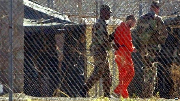 Inmate at Guantanamo Bay, 2002