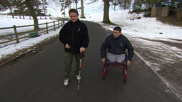 Steven Thomas and Ben Parkinson at Castle Craig Hospital in Peeblesshire