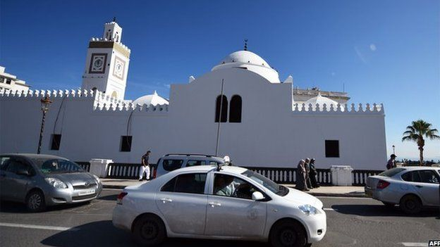 The old Great Mosque of Algiers, near the city's harbour