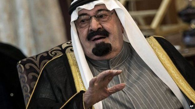 Saudi Arabia's King Abdullah in January 2014