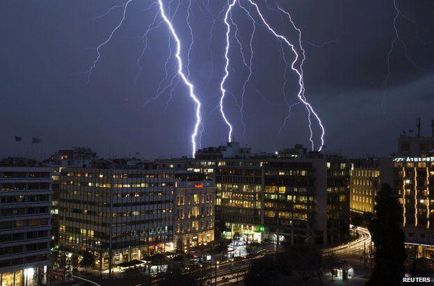 Lightning over Athens, 26 January