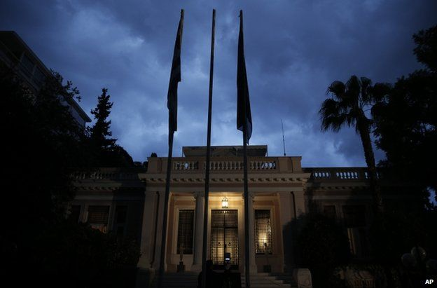 Maximos Mansion, the Greek prime minister's official residence in central Athens, 26 January