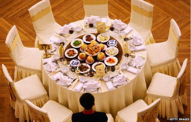 A banquet is held marking the 60th anniversary of the founding of the People's Republic of China on 30 September 2009 at the Great Hall of the People in Beijing, Chin