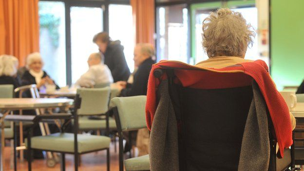 Resident at a care home