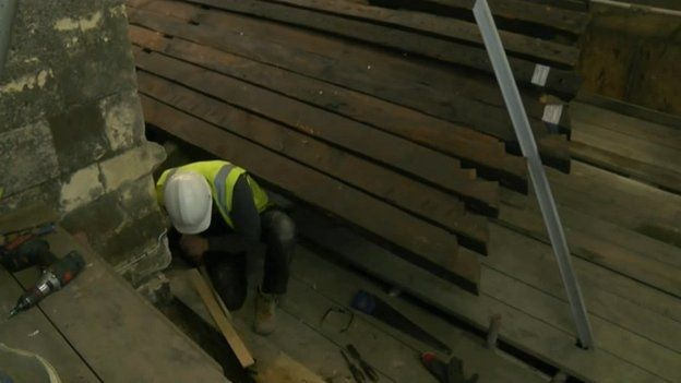 Lincoln Cathedral roof