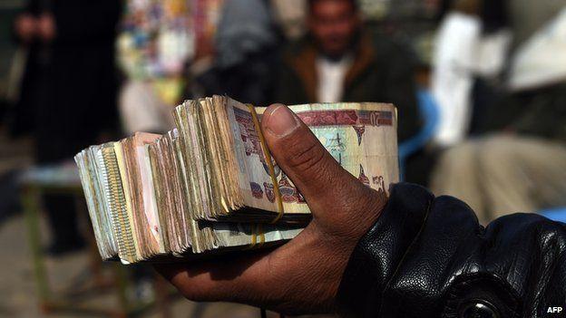 Afghan currency, Dec 2014