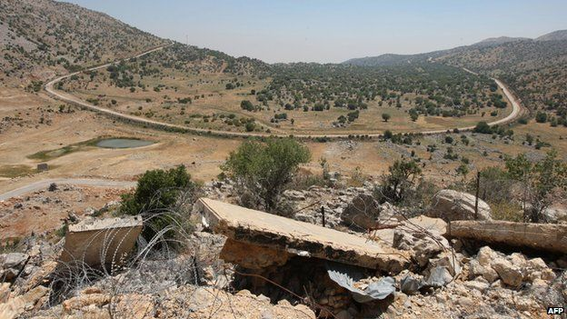 View of the disputed Shebaa Farms area (2008)