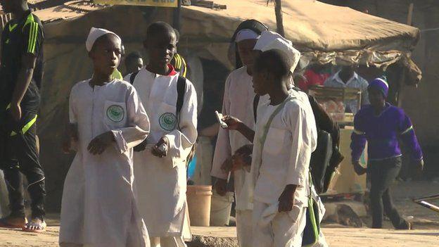 School children in Jos city, January 2015